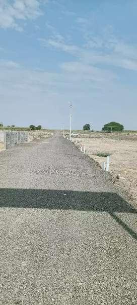 Developed open plots for sale near Morgaon village.