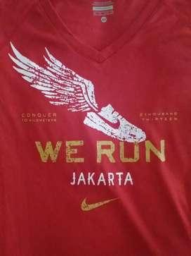 Race Tee/Kaos Lari Nike We Run Jakarta 2013 (Size XS, Female)