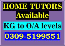 Experienced Tutors Available[[All Lahore Areas/Societies/Sectors\\