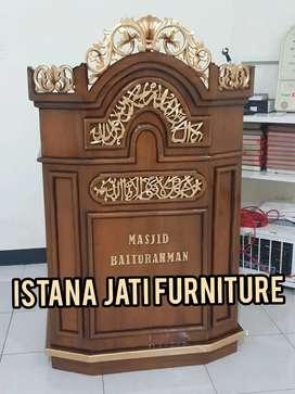 mimbar masjid musholla material mimbar jati masjid