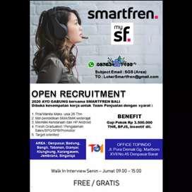 Lowongan Kerja Bali SMARTFREN Promotor SPG SPB Sales Marketing gratis