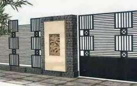 mmengejakan pesanan pintu pagar rumah