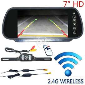 Auto Wireless Car Reverse RearView Mirror Camera Night Vision 7 LCD