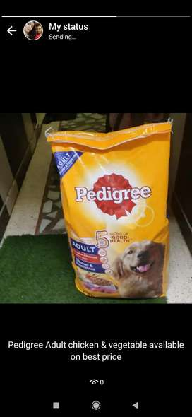 Adult pedigree chicken & veggie 15kg pack