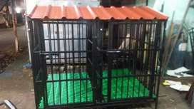Dog cage flexible handle