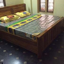 Pureteakwood box type queen and king size double cots
