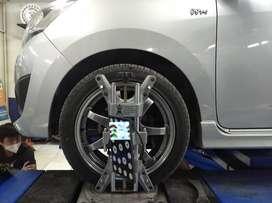 Spooring 3d dimensi - Cek kaki kaki roda mobil - Daihatsu ayla