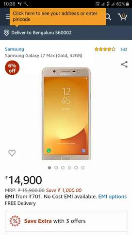 Samsung 7 max 4 rm 32 GB gold color