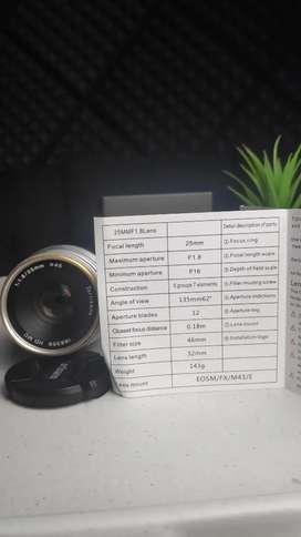 Lensa 7Artisans 25mm f1.8 for Sony E-Mount fix 25mm