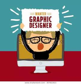 Wanted Graphic designer cum staff (Photoshop knowledge is enough)