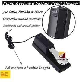Sustain Pedal Damper Piano Keyboard - WTB005 - Black-Untuk Segala Merk