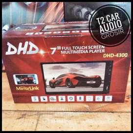 Baru datang 2din DHD fullglass led 7inc android link+camera hd grosir