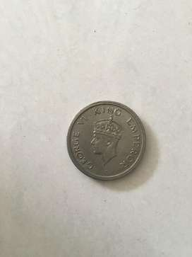 Star marked George VI king emperor 1947's (one rupee)
