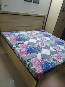 Double bed with boxes with mattress