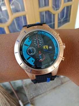 Jam tangan ferrari scudaria rubber hitam