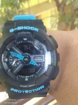 Real Casio rolex WR20 BAR matt black-blue