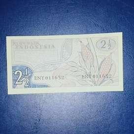 Uang kuno 2 setengah rupiah