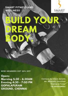 60 days Fitness Challenge training Upto 20% discount