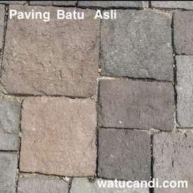 Chisel lantai classic batu asli paving.
