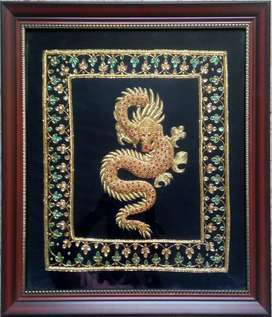 Zari Hand Embrodered wall hanging panel/photo frames