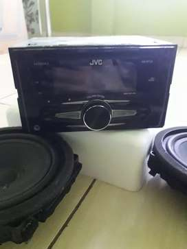 Head unit JVC mp3 flasdisk aux + speaker