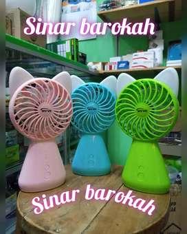 Kipas Tangan Mini Kipas Elektrik Mini Fan Portable LED Chargeable MYVO
