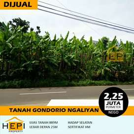 Tanah utk gudang kecil ato Ruko hny 1km dr Ngaliyan Raya