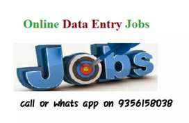 Here we have online data entry job for your work from home
