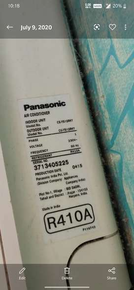 Panasonic airconditioner model no-csys12rky