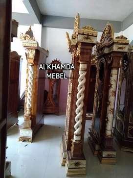 Ready lemari Jam Material Kayu Jati #71