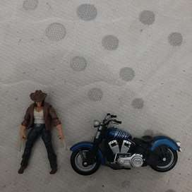 Action figure Xmen Wolverine deluxe with Motorcycle