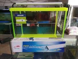 Lampu LED aquarium model box / flat size 30-100cm cocok utk aquascape