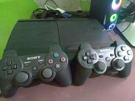 PS3 super slim warna hitam
