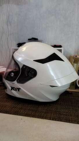 Dijual Helm Fullface KYT TT Course White Sparkle