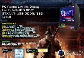PC Rakitan Gaming Intel I5 2400 8GB DDR3 GTX750TI 2GB GDDR5 SSD 240GB