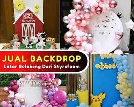Backdrop Styrofoam Dekorasi