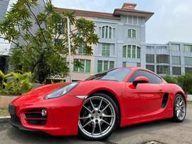 Porsche Cayman 2.7 PDK 981 Coupe 2014 Red On Beige Km10rb Full Option