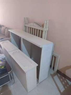 baby box/tempat tidur bayi mewah dari kayu mahogany ivory cat duco