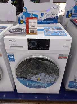 mesin cuci aqua front loading