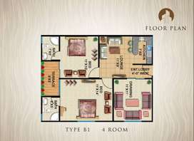 Cantt View lodges type B1 2 Bed D/D