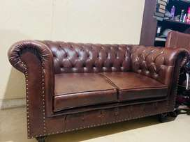 New Classic Chesterfield sofa set Seven Seater in imported Leatheright