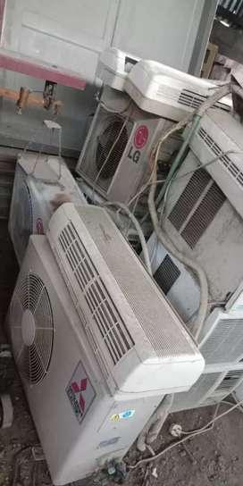 AC bekas dibeli, rusak/mati total , Harga sesuai ukuran PK