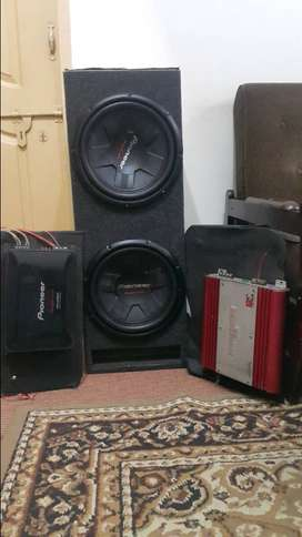 Car woofers and amplifiers