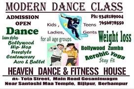 modern dance class, zumba & aerobic