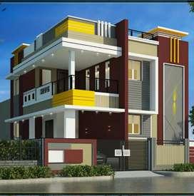75 lakhs 3bhk villa sale in edayarpalayam to Vadavalli