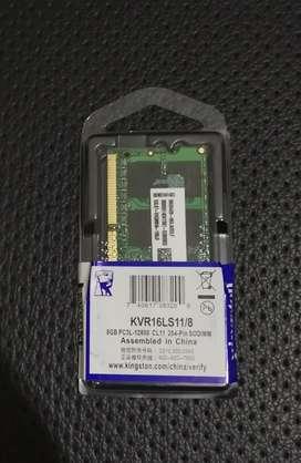 RAM Laptop Sodimm Kingston DDR3 DD3RL 8GB 1.35V 12800 / 1600MHz