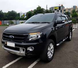 Ford Ranger Wild Track Double cabin 4x4 AT Hitam 2014 - Barang mulus