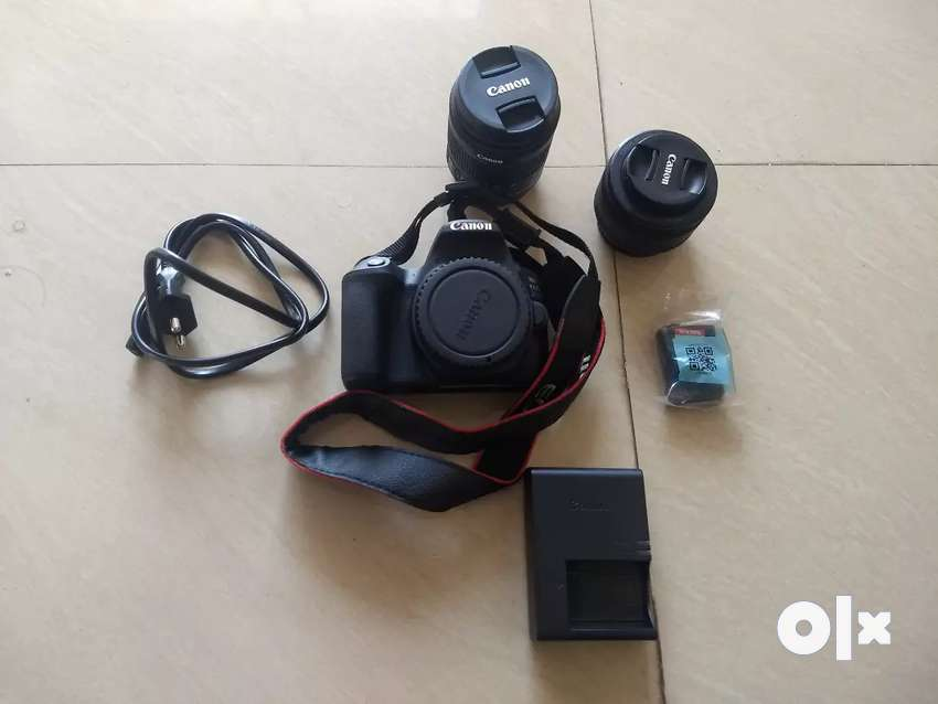 Canon 200D with 50mm prime lens and 18-55mm kit lens. 0