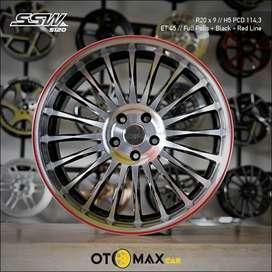 Velg Mobil SSW (S120) Ring 20 Full Polish/BLK/RL
