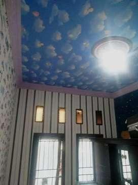 Wallpaper dinding bisa juga untuk plafon